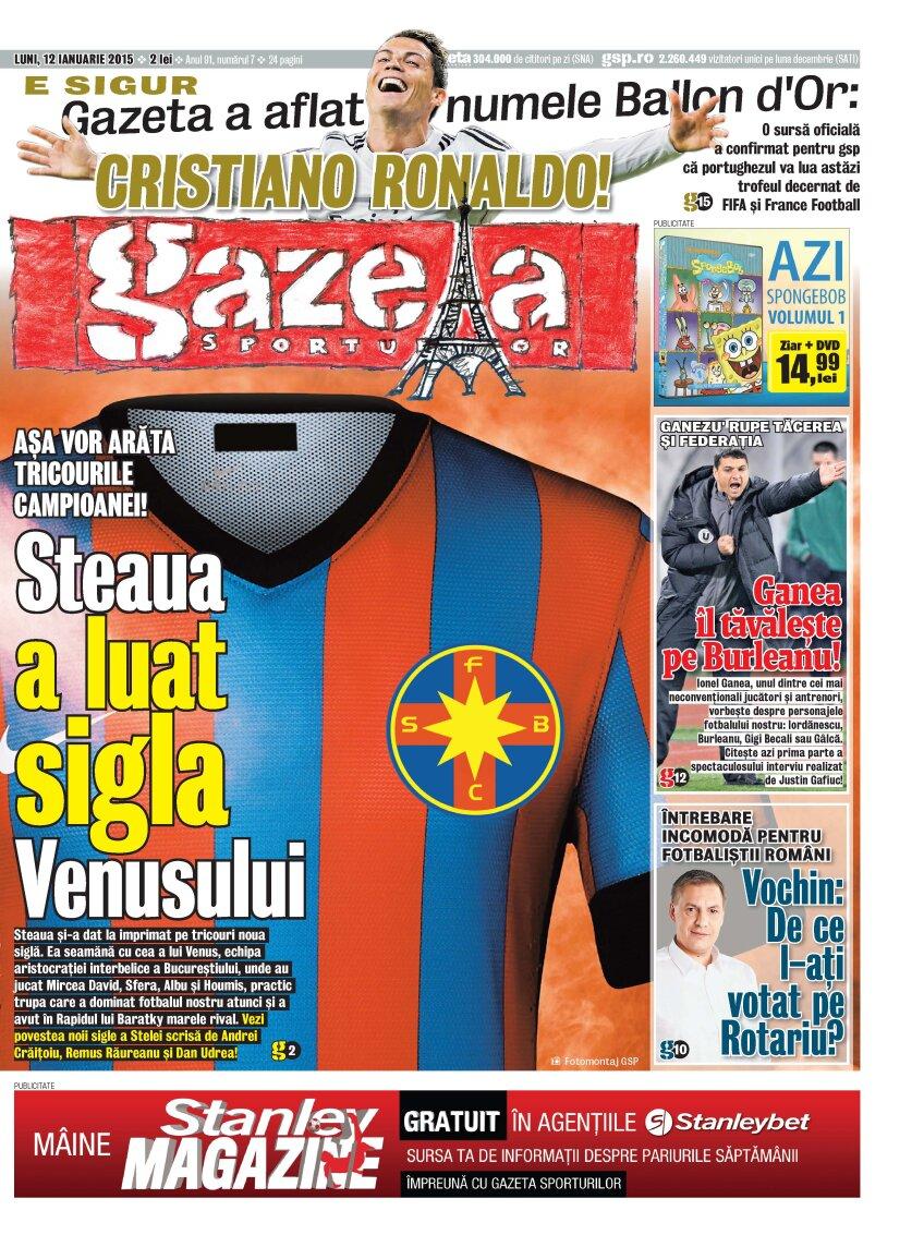 Pagina 1 de azi a Gazetei