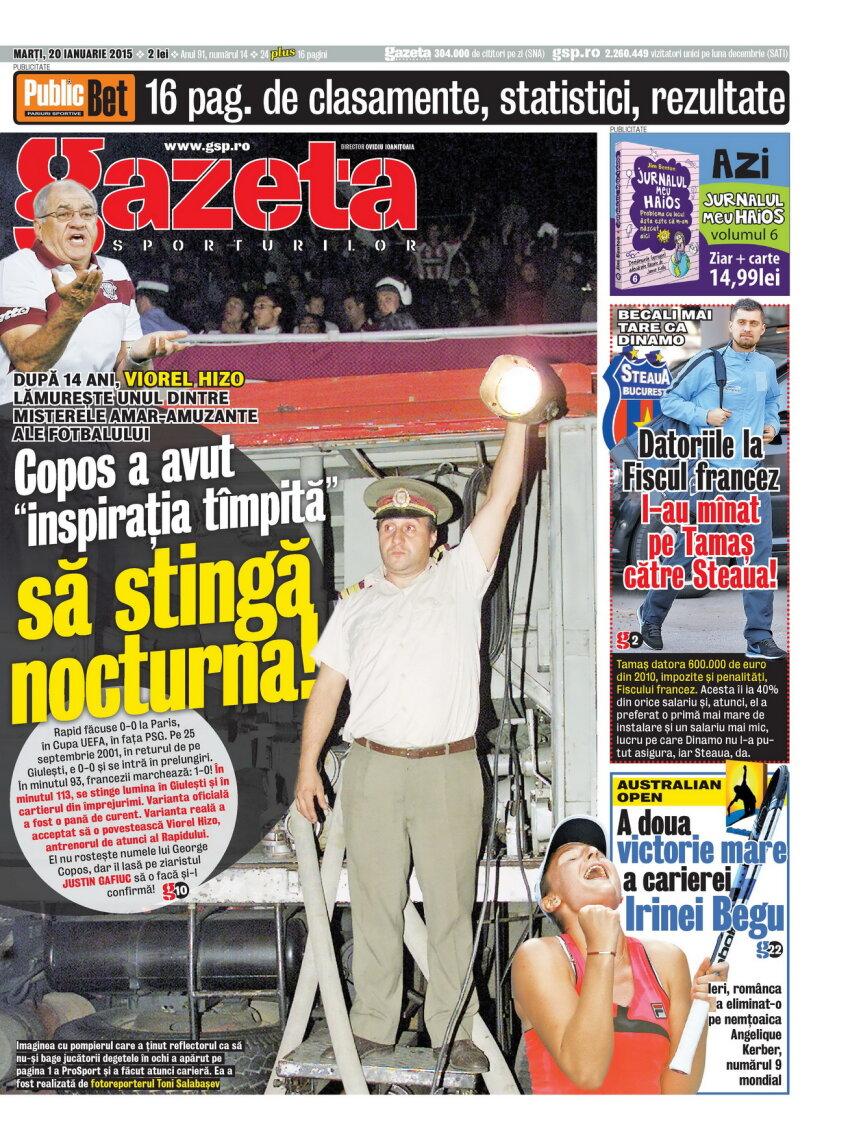 Gazeta Sporturilor e din zori la chioşcuri!