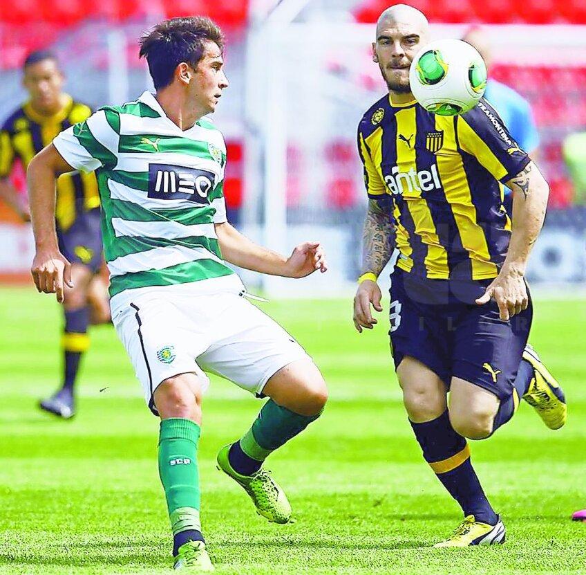 Ponde (în tricoul în dungi al lui Sporting) a jucat 29 de meciuri la
