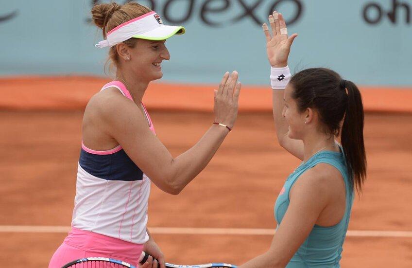 Lara și Irina sînt mulțumite de ce au reușit ieri pe teren // Foto: Alex Nicodim (Madrid)