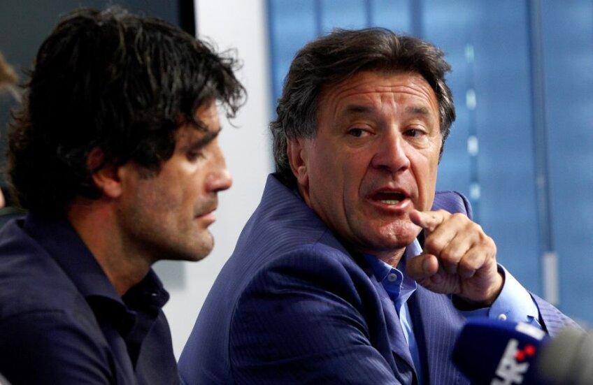 Zdravko Mamici (dreapta) e președinte la Dinamo de 12 ani. Zoran e antrenor din 2013