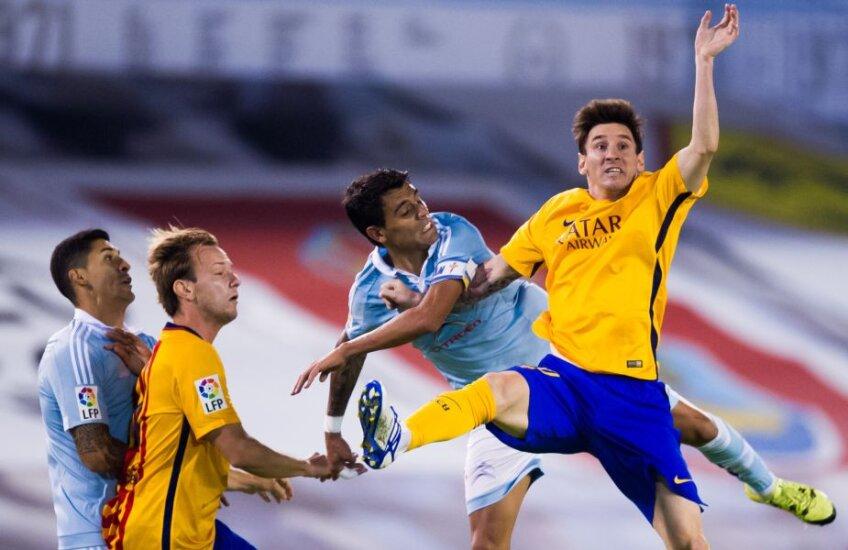 Messi (dreapta) a zburat și miercuri, dar aterizarea a fost teribilă // Foto: Guliver/GettyImages