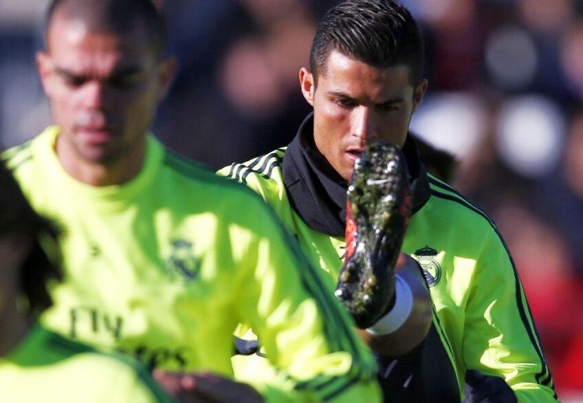 Cristiano Ronaldo la antrenamentele lui Zidane de la Real Madrid, foto: reuters