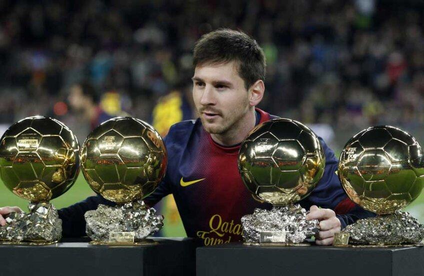 Messi și primele sale 4 Baloane de Aur // Foto: Reuters