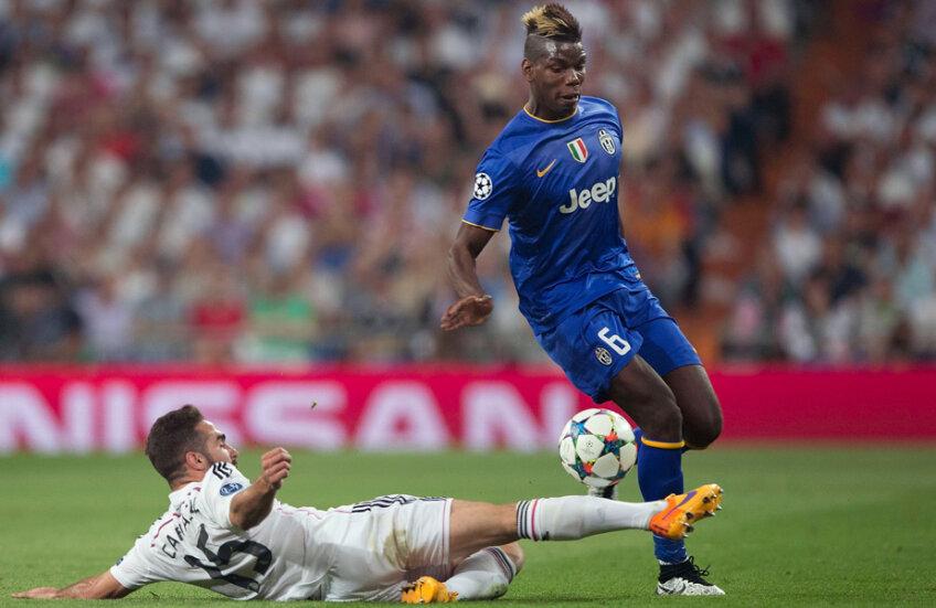 Sezonul trecut, Pogba (dreapta) a trecut cu Juve de obstacolul Real în semifinalele Ligii // Foto: Guliver/GettyImages