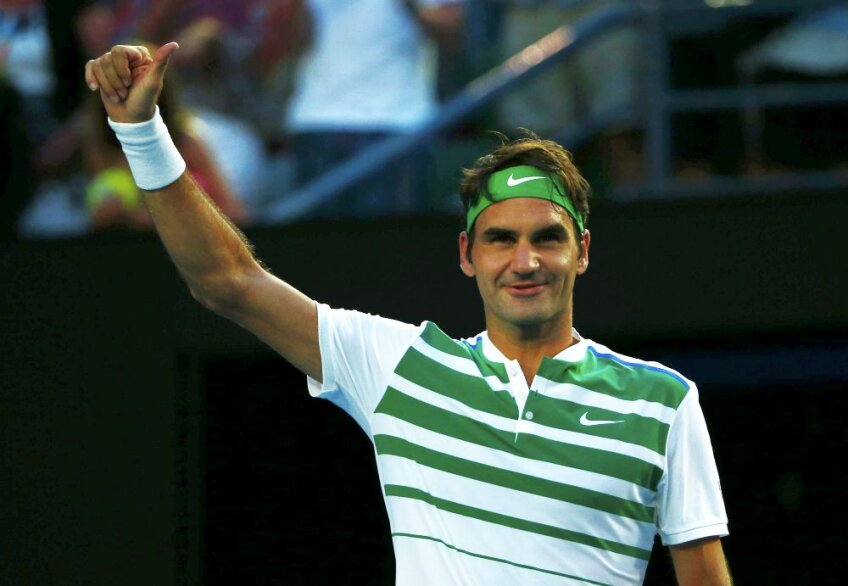 Roger Federer la Australian Open 2016, foto: reuters