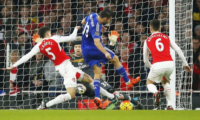 Diego Costa (Chelsea) marchează în minutul 23, foto: reuters