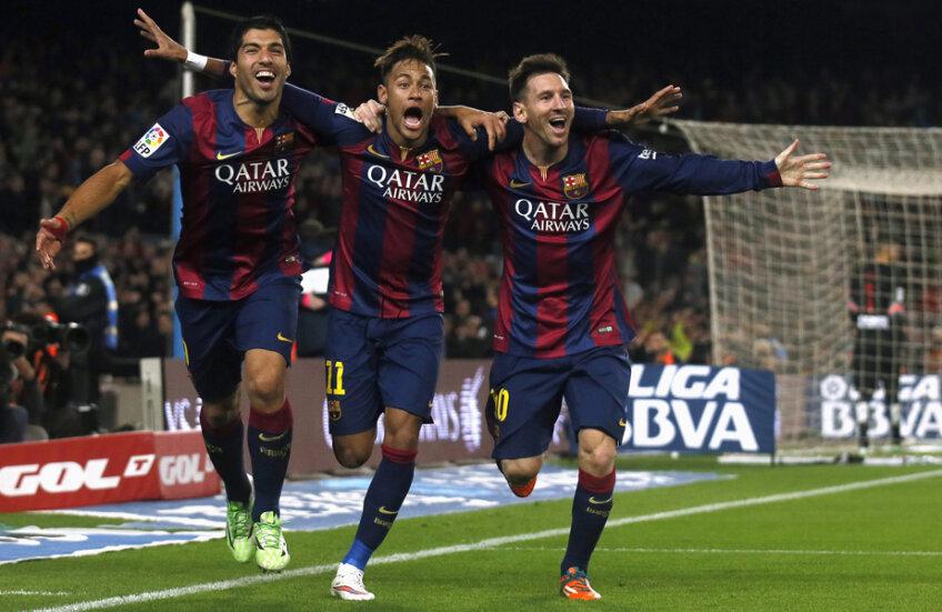 Suarez, Neymar și Messi, 3 golgeteri fericiți la Barcelona pe toate planurile: goluri, trofee și bani // Foto: Reuters