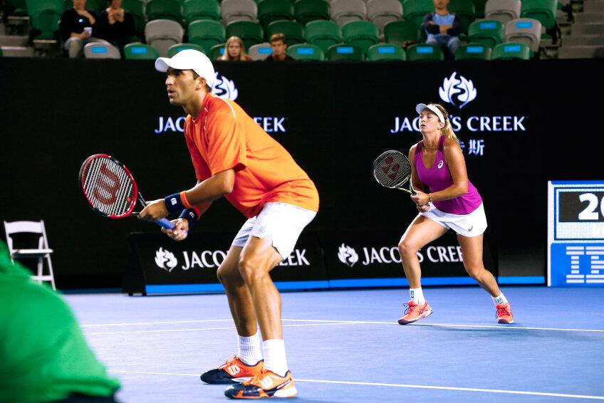 Horia Tecău și partenera sa Coco Vandeweghe, foto: ausopen.com