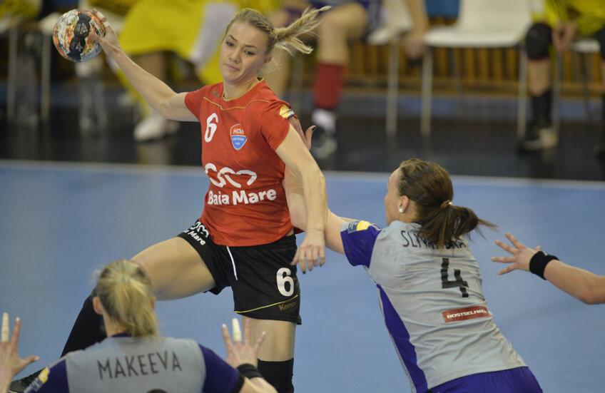 Ana Maria Tănăsie e la primul său sezon de Ligă cu echipa din Baia Mare // Foto: Alex Nicodim