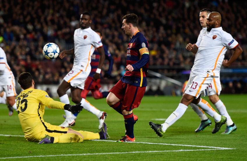 Messi a înscris două goluri Romei la 6-1 pe 24 noiembrie, în grupele Ligii // Foto: Guliver/GettyImages