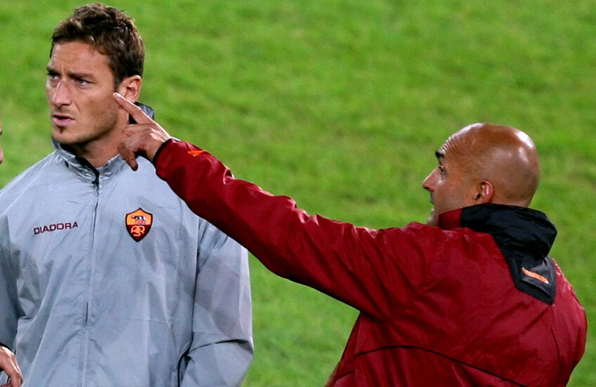 Totti s-a certat cu Spalletti, care l-a folosit pe căpitan 35 de minute în cele 7 meciuri de la revenirea pe banca giallorossilor