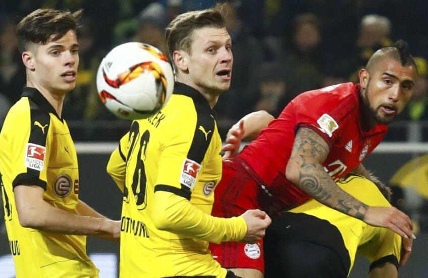 Vidal, în roșu, n-a avut succes în fața apărătorilor Borussiei