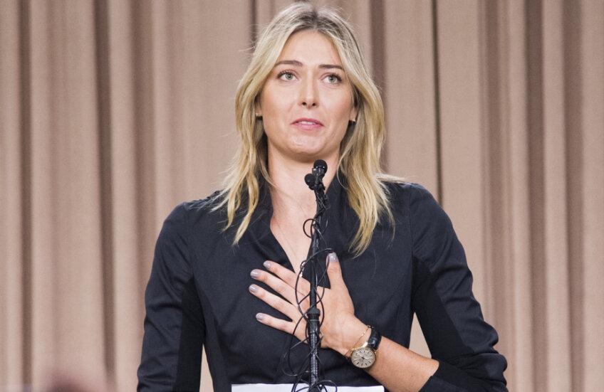 Maria Şarapova, la conferinţa de presă în care a dezvăluit că a testat pozitiv la Meldonium