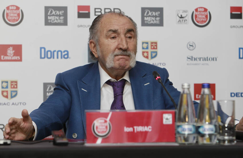 Ion Țiriac în timpul conferinței de ieri // FOTO Cristi Preda