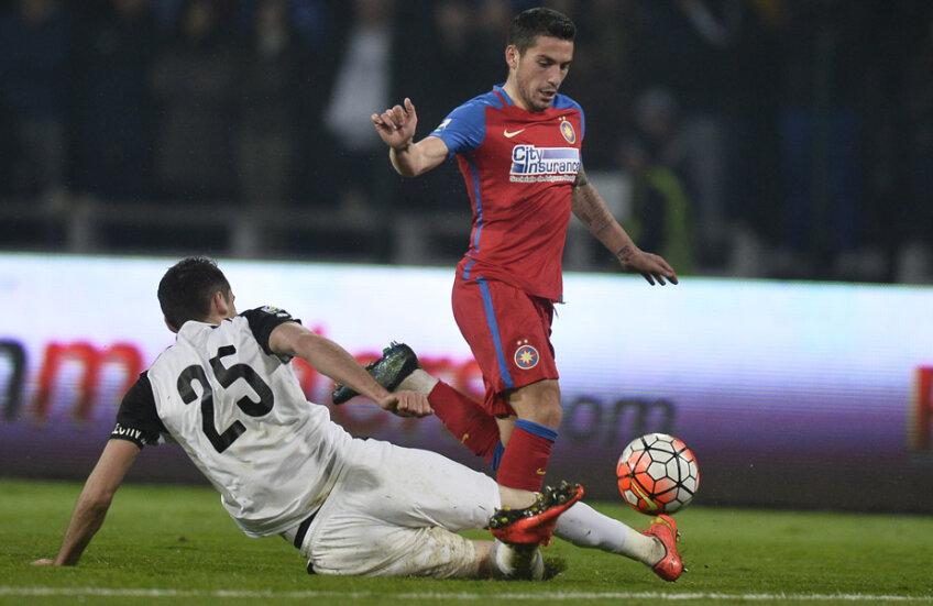Stanciu a jucat extraordinar și aseară. Cu golul din minutul 60 a ajuns la cota 10 doar în Liga 1 // FOTO Raed Krishan (Pitești)