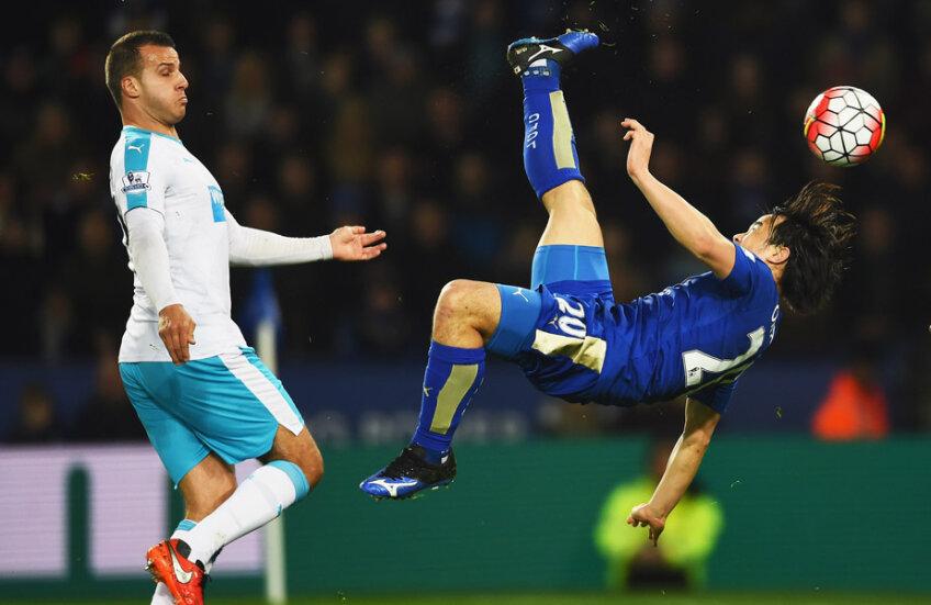 Okazaki, show-gol la unicul șut pe poartă al lui Leicester