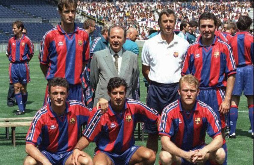 Hagi, alături de Johan în 1994. Cei doi, umăr la umăr