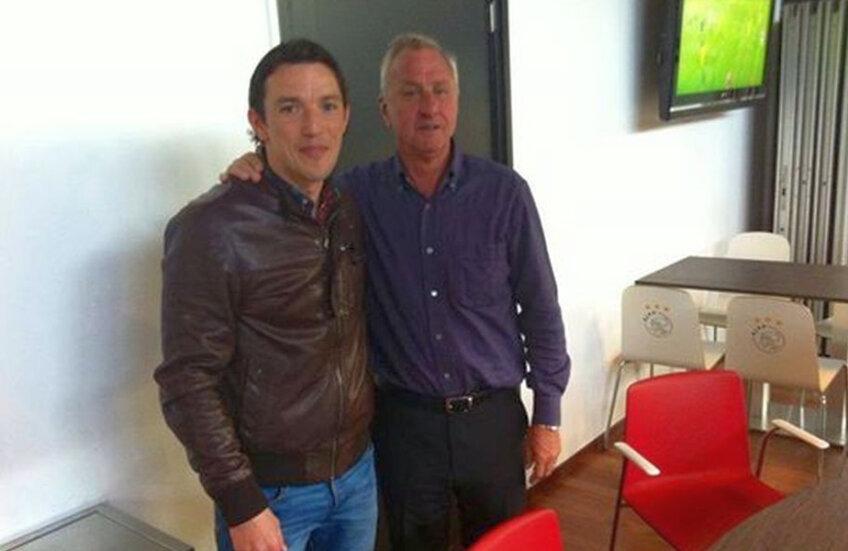 George Ogăraru și Johan, cel mai mare fotbalist olandez all-time