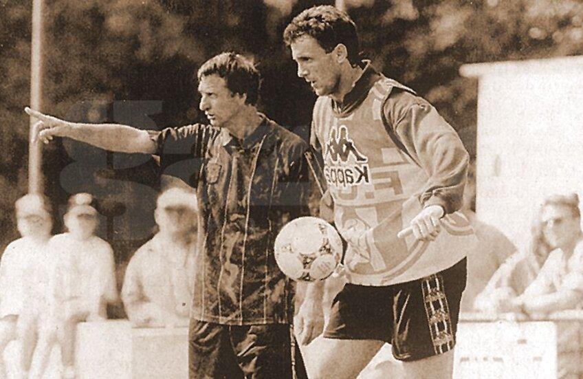 Gică Popescu și Johan Cruyff, sub soarele Catalunyei