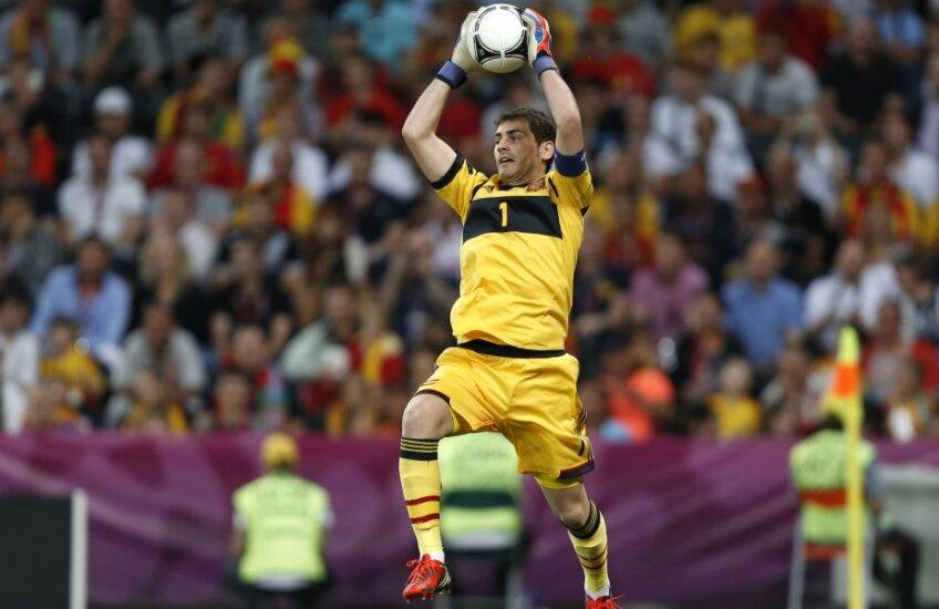 Casillas, 34 de ani, a debutat în naţională în 2000