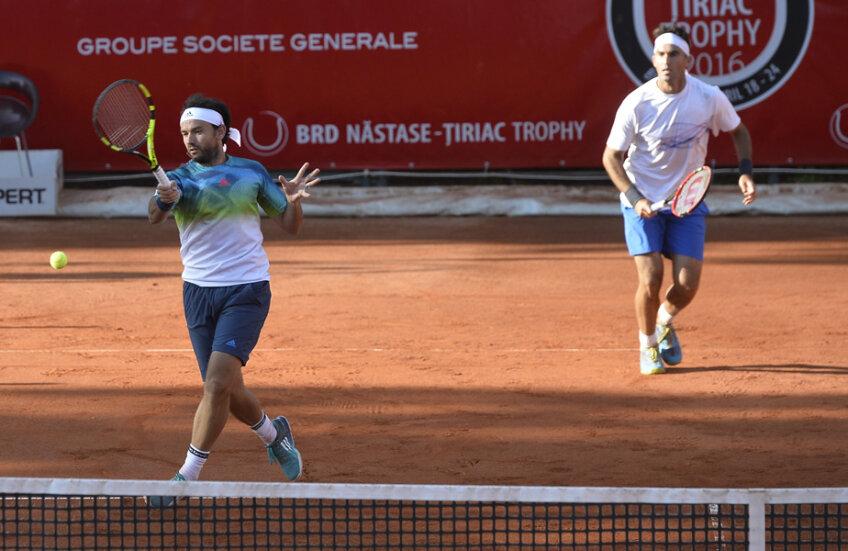 Florin Mergea și Horia Tecău au avut parte de o audiență numeroasă și caldă ieri, la BRD Trophy // FOTO Raed Krishan