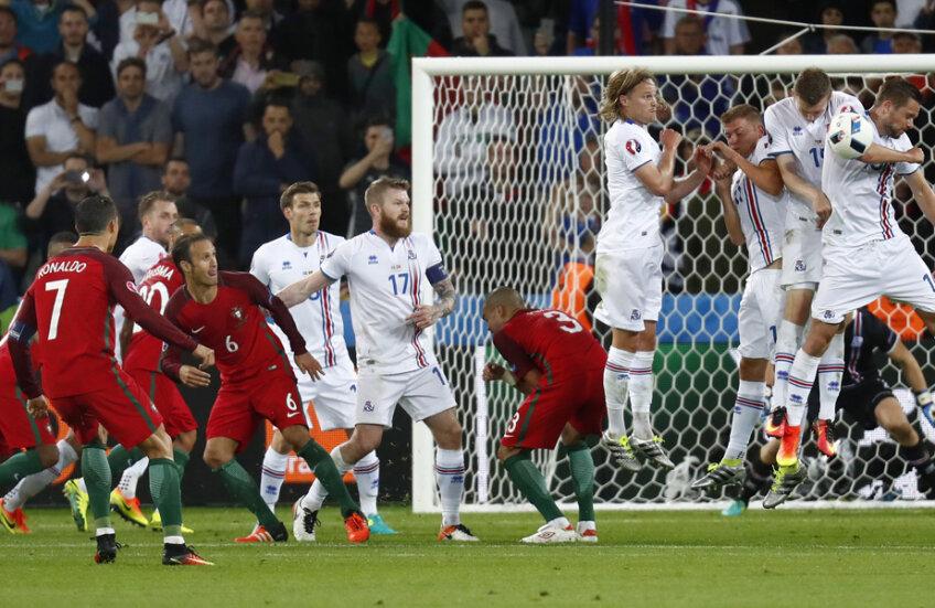 Nici din lovitură liberă n-a fost precis Ronaldo. În ultimul minut, a șutat de două ori în zid // FOTO Reuters