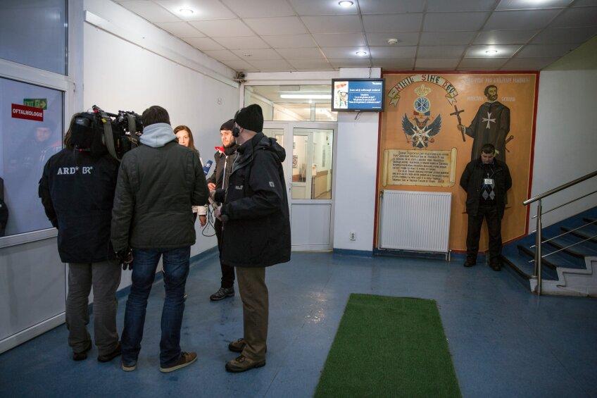 Echipa Gazetei, intervievată la Spitalul Malaxa (foto: George Popescu)