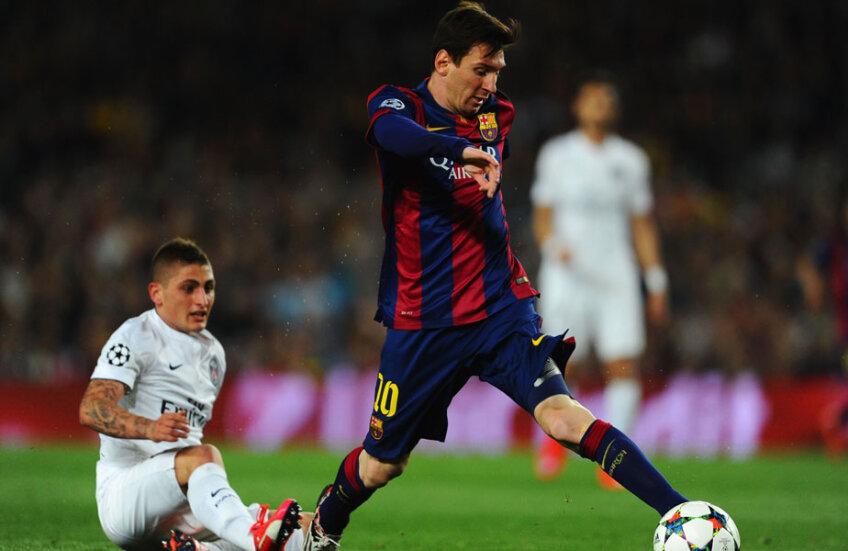 La ultima ciocnire cu PSG, în aprilie 2015, Messi i-a zăpăcit pe Thiago Silva și David Luiz