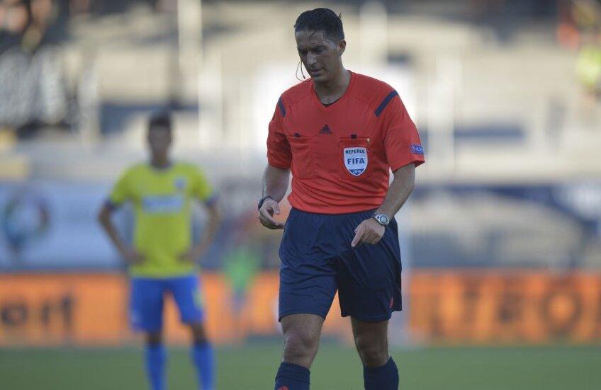 Serdar Gozubuyuk, în timpul meciului  Stromsgodset - Steaua, din 2014. FOTO: RAED KRISHAN