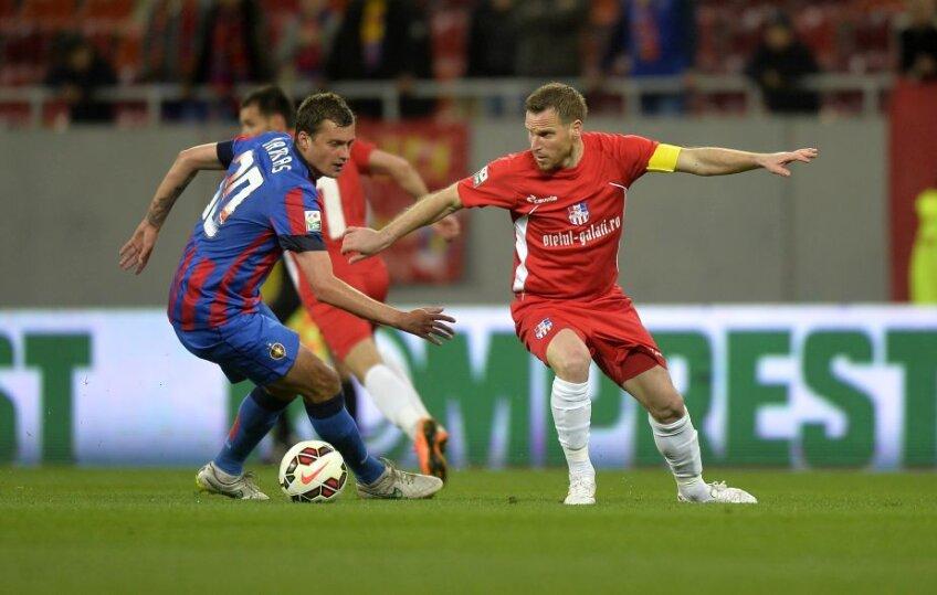 Imagine din meciul Steaua - Oțelul 1-2, din aprilie 2015. Foto: Raed Krishan