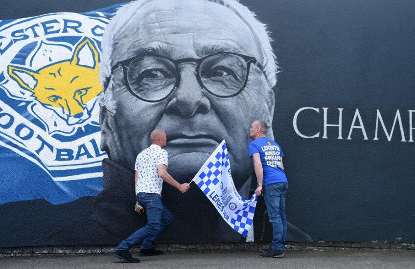 Ranieri rămâne idol la Leicester pentru fanii cărora le-a adus primul titlu în istoria de 133 de ani // FOTO Guliver/GettyImages