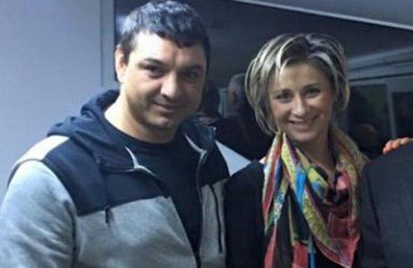 Ganea e impresariat de Anamaria, care l-a propus atât la U Cluj, cât și la Voluntari // Foto Facebook