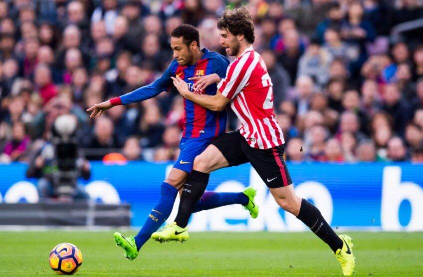 Yeray Alvarez, dreapta, în duel cu Neymar, foto: Gulliver/gettyimages.com