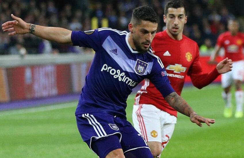 Stanciu, aici în duel cu Mhitarian, a jucat slab în prima manșă cu United