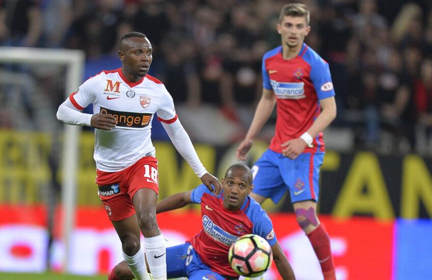 Mahlangu a marcat un gol contra FCSB în ultimul Derby de România din 2016, când