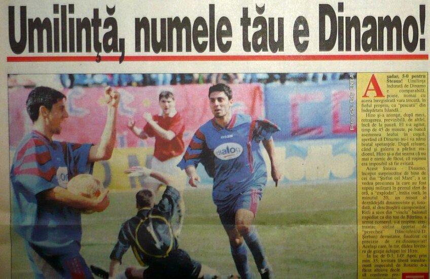 Articol din Gazetă din vremurile în care Dănciulescu marca pentru Steaua