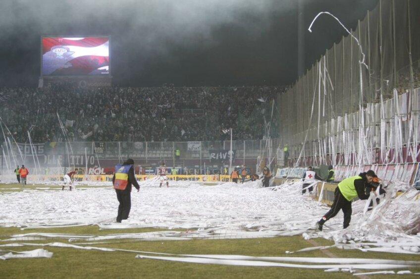 Imagine de la Rapid -  Dinamo din 2011. Arhivă GSP