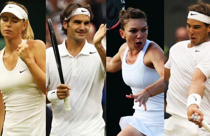 Șarapova, Federer, Halep și Nadal: patru jucători de urmărit la US Open // Foto via india.com