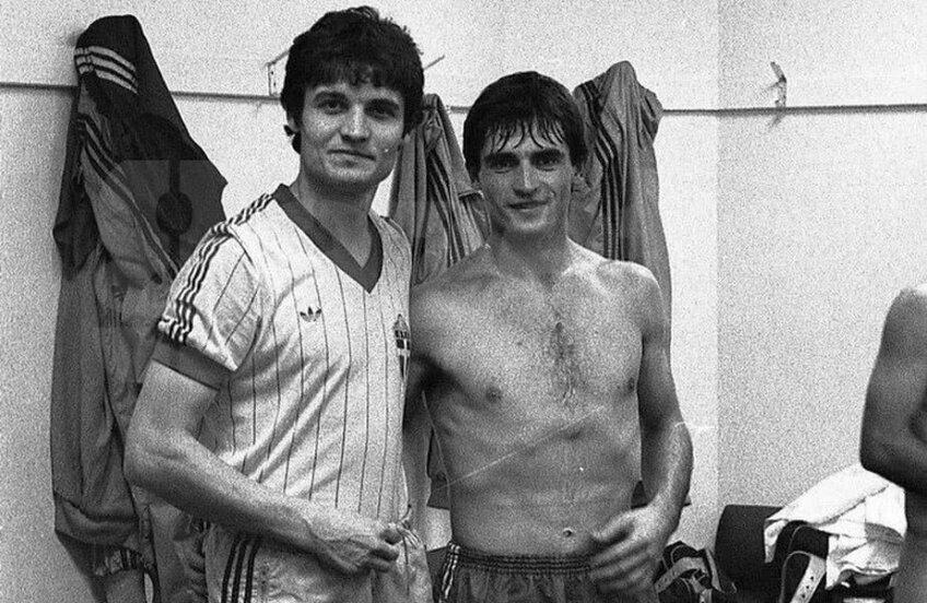 Michael Klein, în dreapta, alături de Ioan Andone