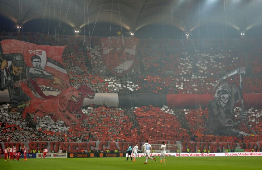 Fanii dinamoviști i-au dedicat suporterului coregrafia realizată la derby-ul cu FCSB: