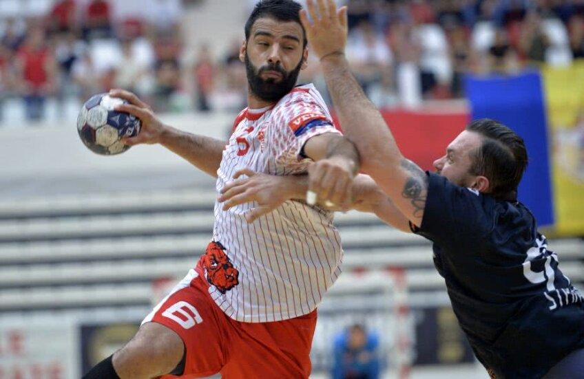 Sajad Esteki a marcat de 7 ori în meciul cu CSM București // FOTO: Cristi Preda