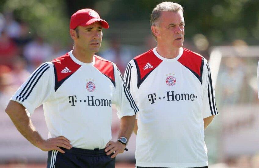 Riccardo Proietti alături de Ottmar Hitzfeld la un antrenament al celor de la Bayern. Foto: Guliver/GettyImages