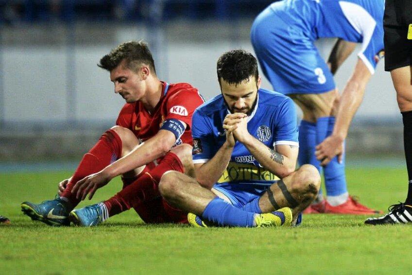 Kamer Qaka și Florin Tănase, în Poli Iași - FCSB