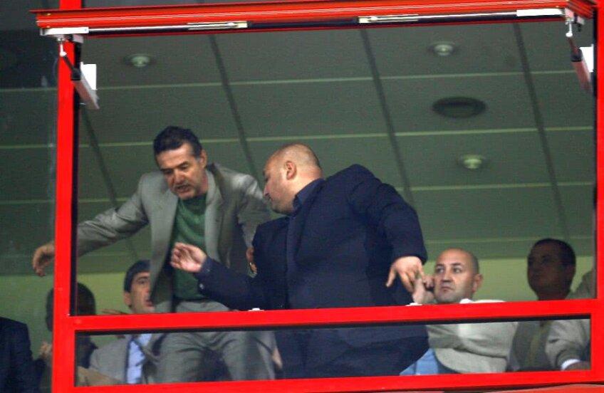 2007 // Gigi Becali l-a evacuat din lojă pe Gheorghe Corsicanu, liderul galeriei Rapidului, în timpul unui derby // FOTO: Arhivă Gazeta Sporturilor