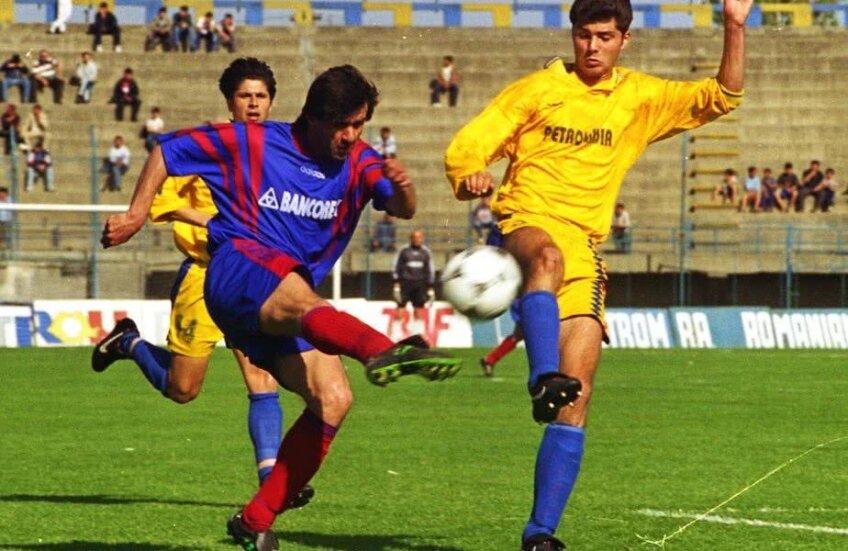 Marius Lăcătuș pe vremea când juca la Steaua