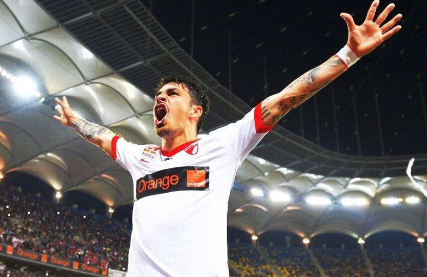 Sergiu Hanca a marcat 20 de goluri în 114 meciuri pentru Dinamo