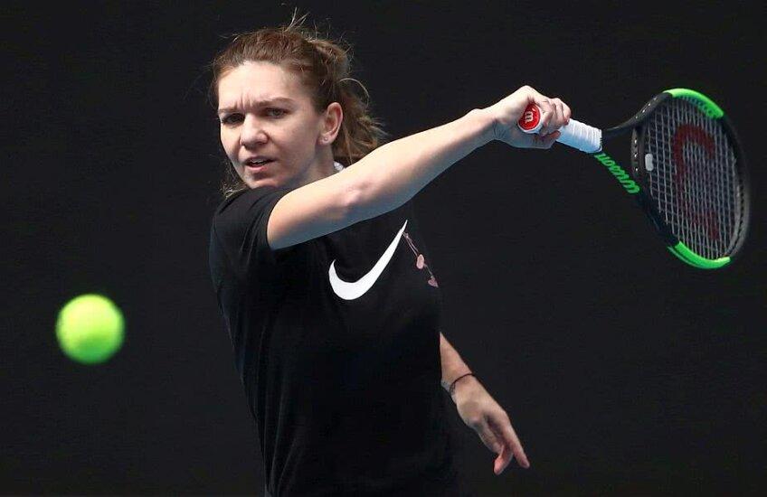Simona Halep se antrenează la Australian Open 2019, foto: Guliver/gettyimages.com