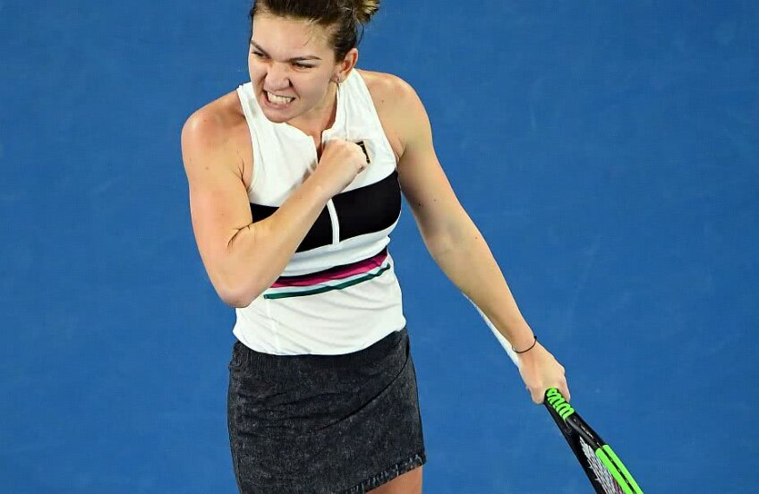 Simona Halep în meciul cu Sofia Kenin // Foto: Reuters