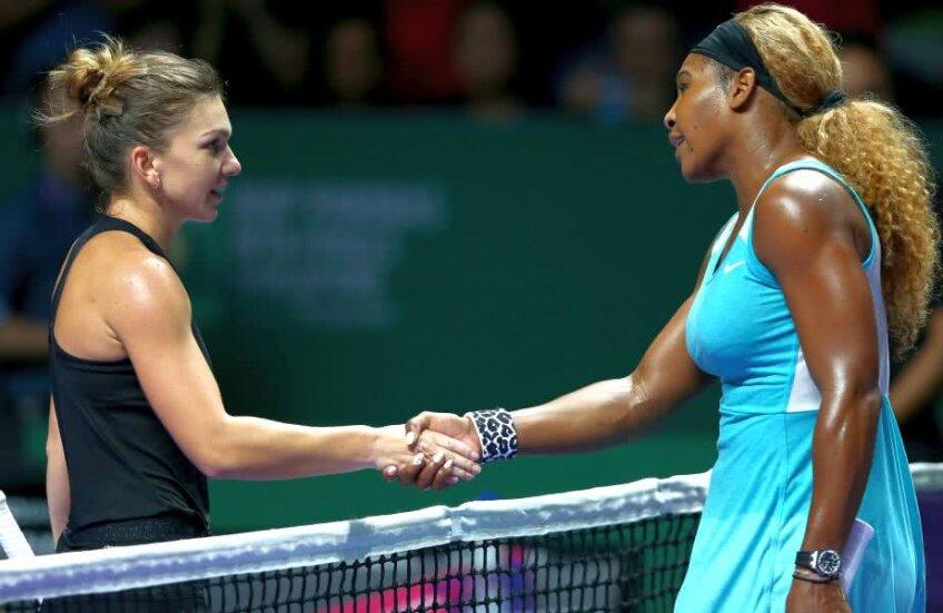 Simona Halep și Serena Williams foto: Guliver/Getty Images